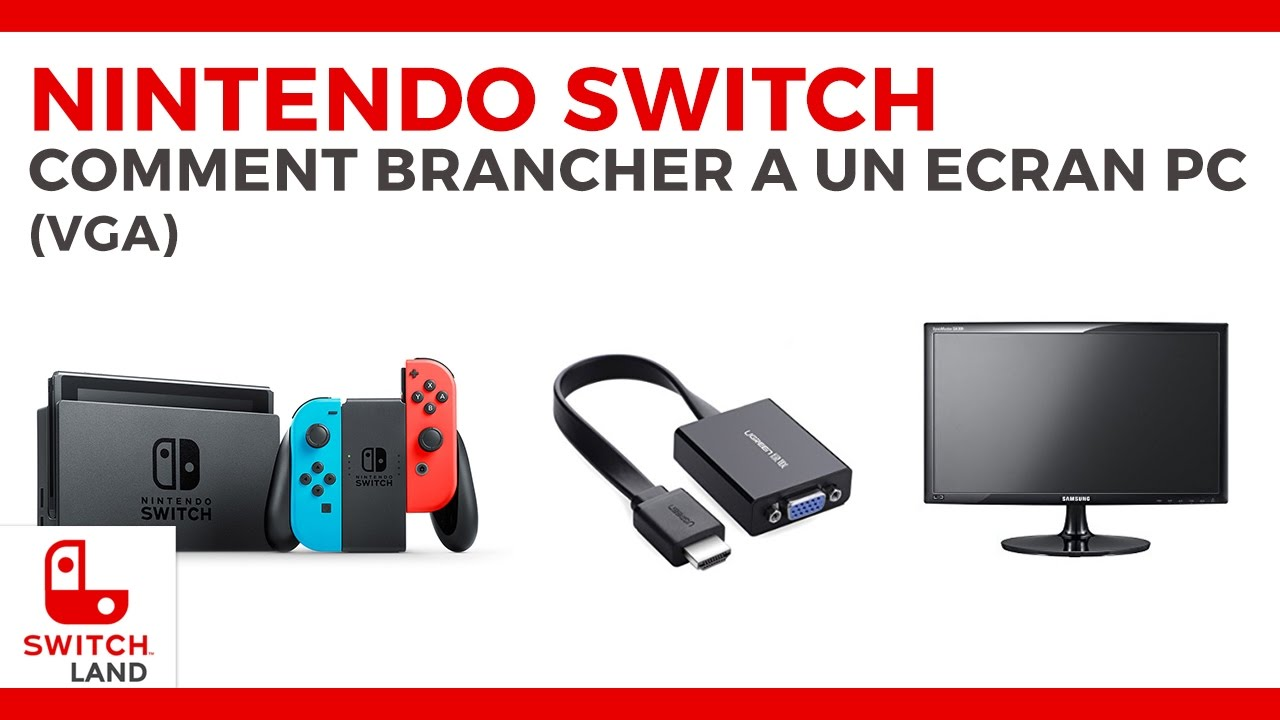brancher sa nintendo switch un cran de pc youtube. Black Bedroom Furniture Sets. Home Design Ideas