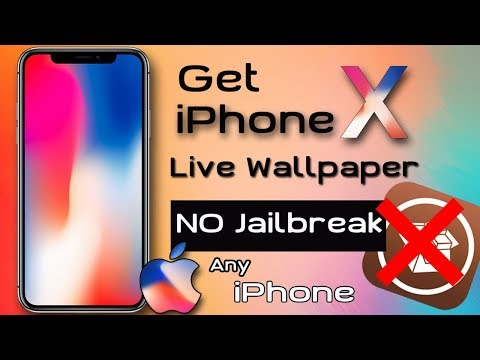 Download The iPhone X LIVE Dynamic Wallpapers On Any iPhone (NO JAILBREAK )