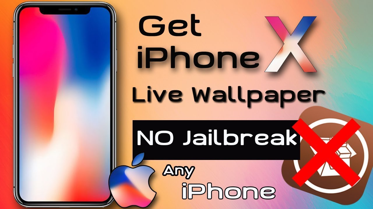 Download The iPhone X LIVE Dynamic Wallpapers On Any iPhone (NO JAILBREAK ) - YouTube