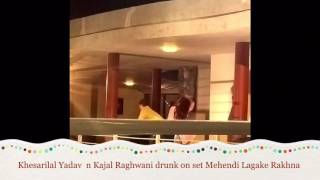 Full masti dhamal of hot kajal raghwani khesari lal yadav on set Mehandi Lagake Rakhna