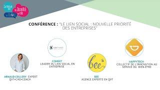 """Conférence : """"Le lien social, la nouvelle priorité des entreprises !"""""""
