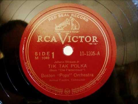Arthur Fiedler - Boston Pops - Tik Tak Polka - Johann Strauß - 24.11.1944
