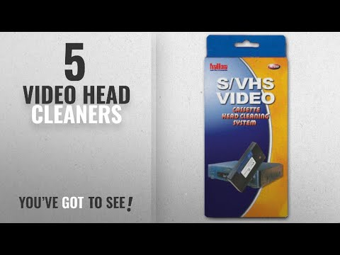 Top 10 Video Head Cleaners [2018]: VHS & SVHS video tape head cassette cleaning system