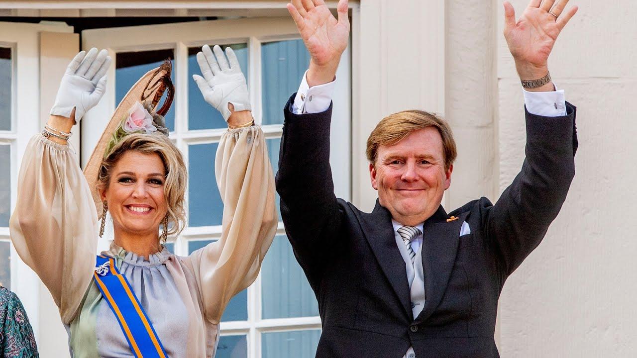 Máxima Der Niederlande Meer Aus Perlmutt Stoff Ihr Barock Kleid