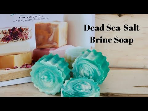 Making Dead Sea-Salt Brine Soap From The Book Milk Soaps