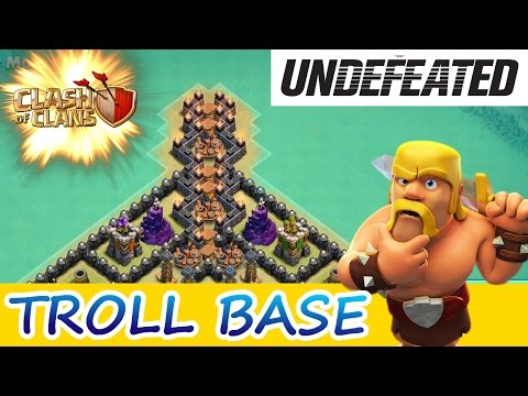 Clash Of Clans | UNDEFEATED TROLL BASE! |
