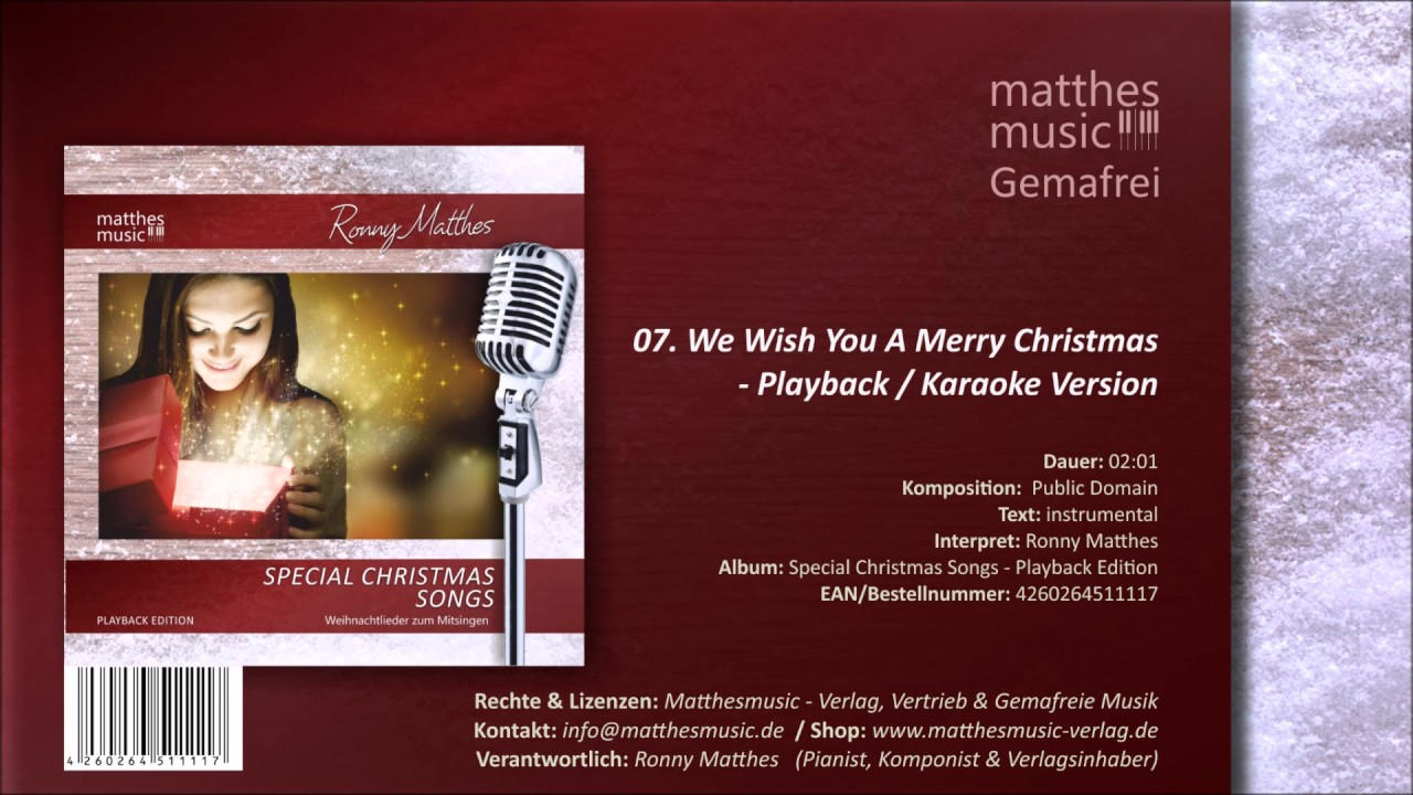 We Wish You A Merry Christmas (Karaoke) (07/12) - CD: Special ...