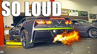 the corvette gets loud c7 armytrix exhaust