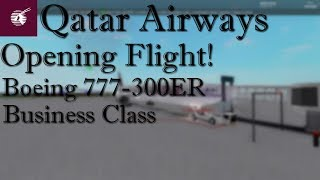 ROBLOX | Qatar Airways | Boeing 777-300 | businessklasse