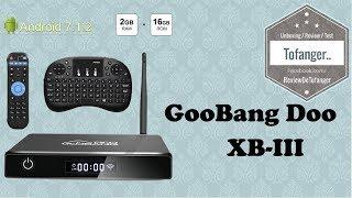 XB-III GooBang Doo Box TV Android 7 - Smart Box TV + Rii