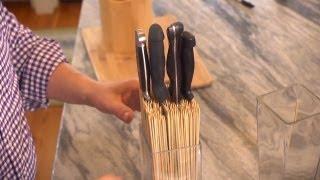 كيفية جعل حامل سكين | في المنزل مع P. ألن سميث