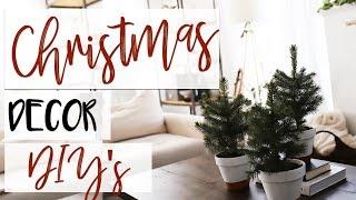 4 Easy Christmas Decor DIYs | Christmas Decorating on a Budget