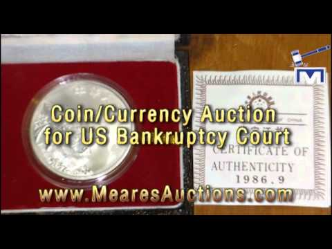 Online Bankruptcy Coin Auction