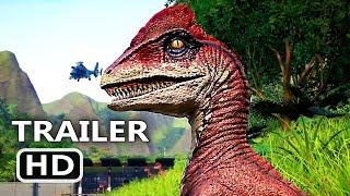 PS4 - Jurassic World Evolution Species Trailer (2018) Jurassic Park Game HD