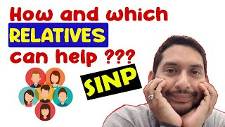 How relatives can help in SINP? How to get points from relatives?