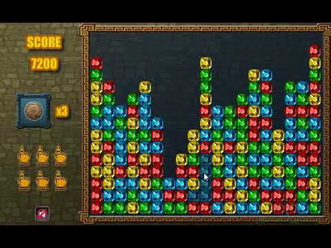Интересная игра. Соберите разноцветные кристаллы онлайн.
