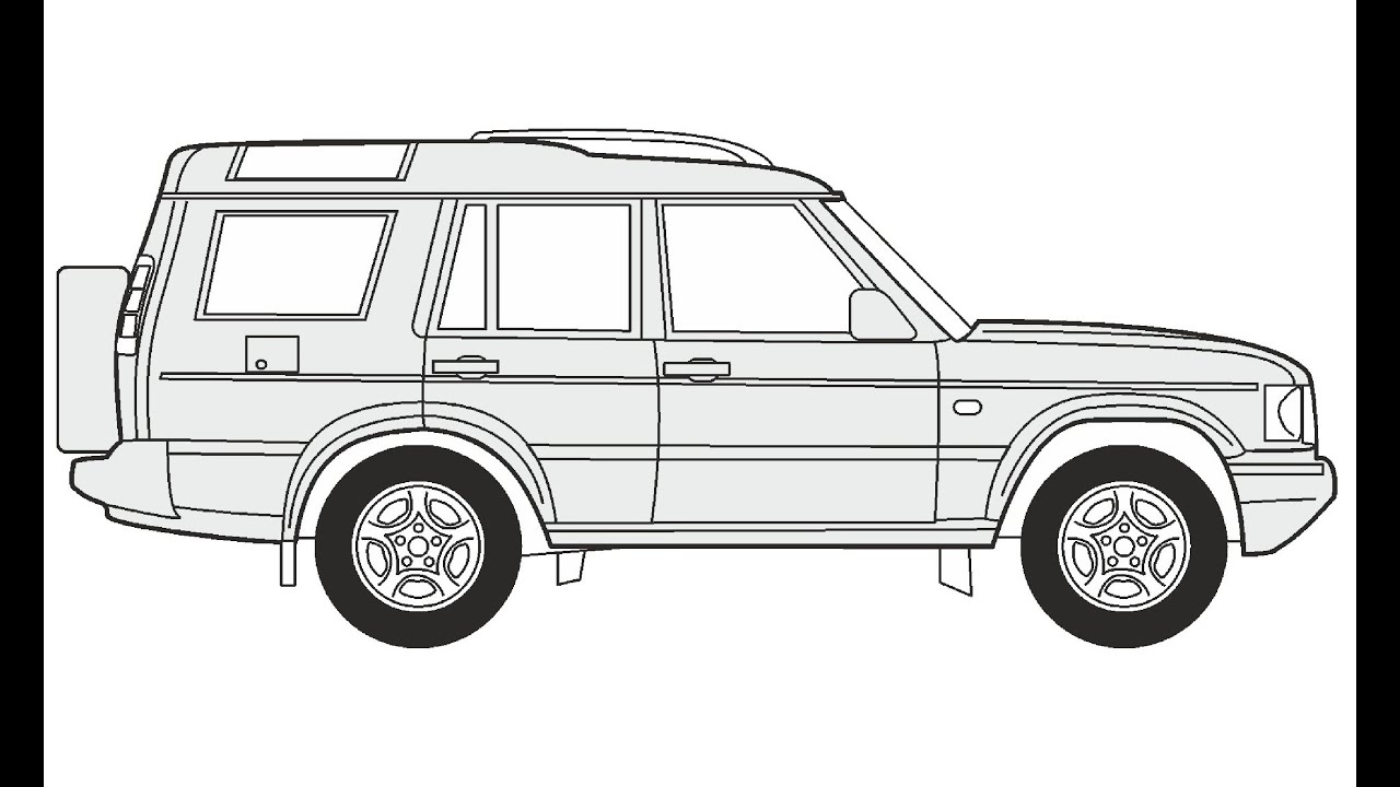 It's just a graphic of Rare Range Rover Drawing