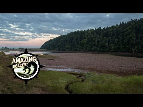 AMAZING Bay of Fundy Time Lapse: Alma Estuary