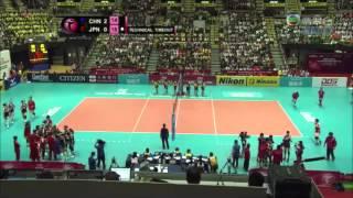 China VS Japan World Grand Prix 2014 09-Aug-2014-Set3