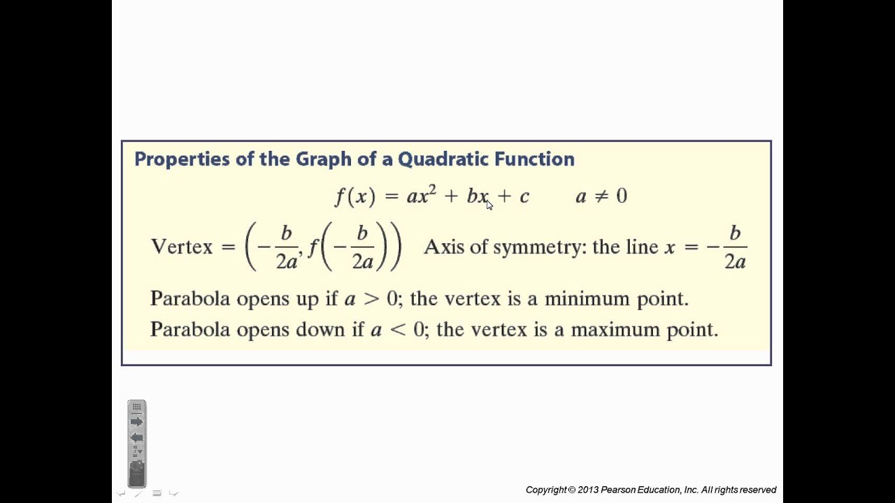 Precalculus Chapter 3 3 Quadratic Function And Their