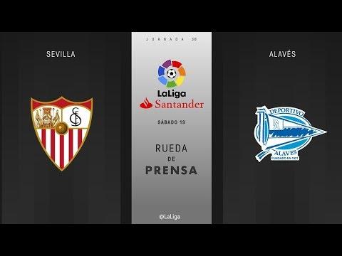 Rueda de prensa Sevilla vs Alavés