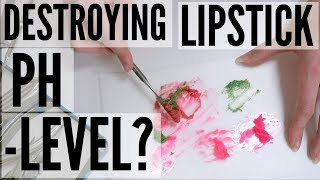 DESTROYING COLORCHANGING LIPSTICKS at Labally + does it react to different PH LEVELS??