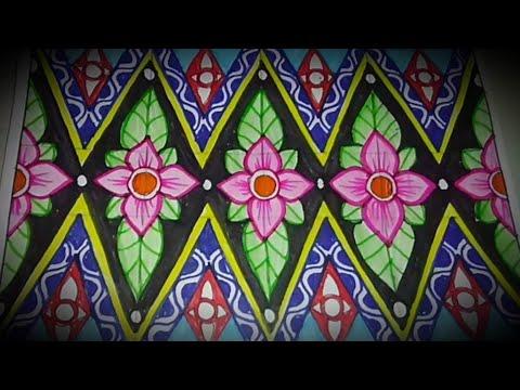 Menggambar Batik Motif Bunga Mudah Lho