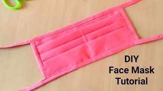Very Easy Face Mask Sewing Tutorial How to make mask without elastic at home Mask making Ideas