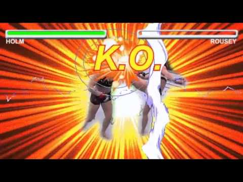 Holly Holm Versus Ronda Rousey Street Fighter Edition Youtube