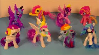 2014 MY LITTLE PONY SET OF 8 McDONALD'S HAPPY MEAL KIDS TOY'S VIDEO REVIEW