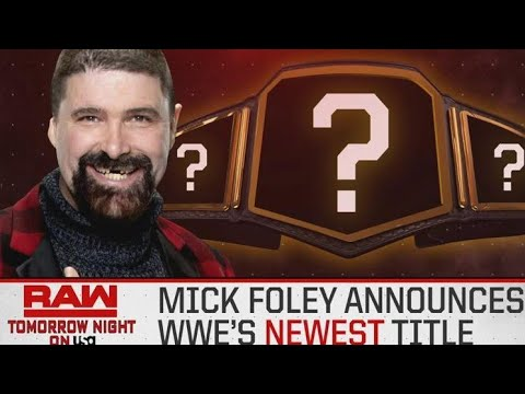 New WWE championship title to be introduced on Raw, but what exactly will it be?
