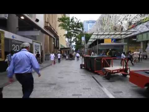 Queen Street Mall in Queensland Brisbane Australia