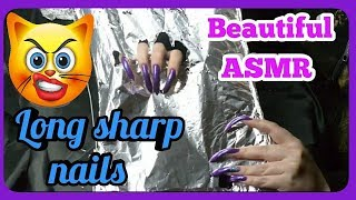 AGGRESSIVE New SCRATCHING ASMR VIDEO with my SUPERLATIVES LONG SHARP NAILS. PERFECT SOUNDS 💋