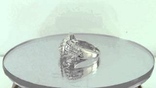 HSN Victoria Wieck Sterling Silver 2.01ct Baguette & Pave Knotted Band Ring Start -$0.99 Auction