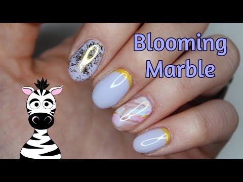 Blooming Marble and Builder In A Bottle Gel Nail Art Tutorial | Madam Glam thumbnail