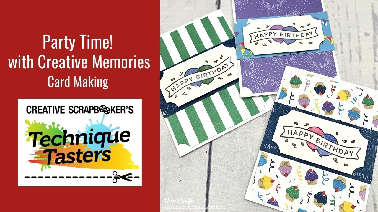 Creative Memories Stickers Party Time 3 sheets