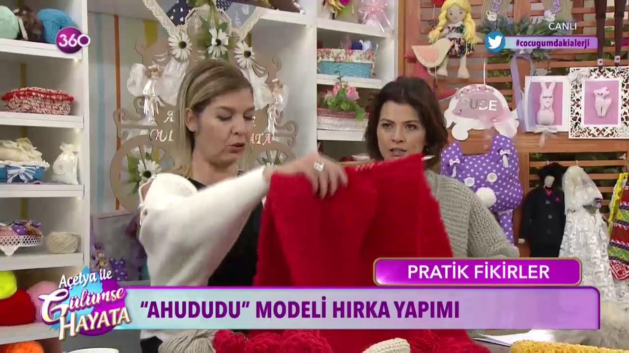 Ahududu Modeli Ponçik Bayan Hırka Yapılışı Türkçe Videolu