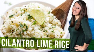 How to Make Cilantro Lime Rice Pilaf | The Stay At Home Chef