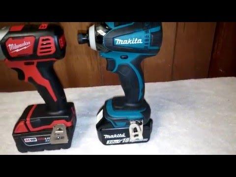 Milwaukee M18 (2656) vs. Makita 18v (XTD04) Impact Lug Nut Challenge