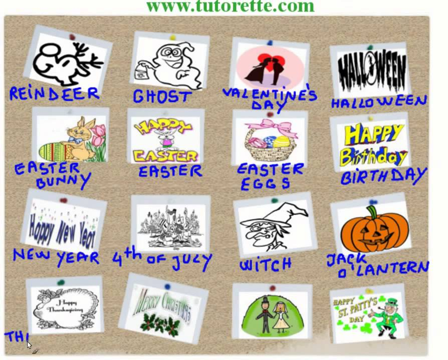 Super Curso de Ingles - Dias especiais em ingles - YouTube MF63