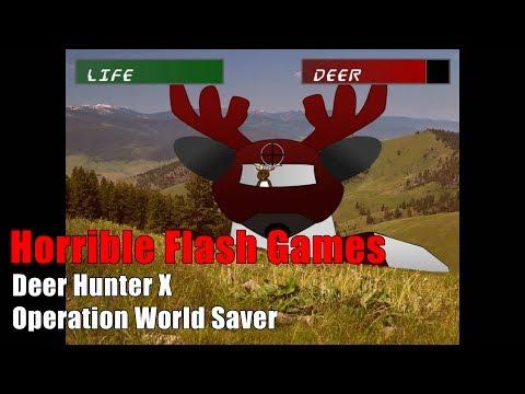 Horrible Flash Games - Deer Hunter X: Operation World Saver (Feat. Batman)