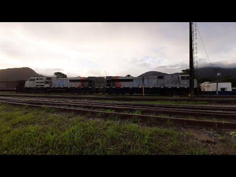 Trem da VLI com SD70-bb chegando no pátio Paratinga ZPT