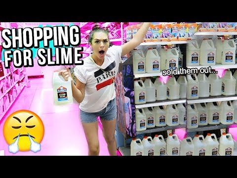 SLIME SUPPLIES SHOPPING AT HOBBY LOBBY!!! (I needed more glue lol)