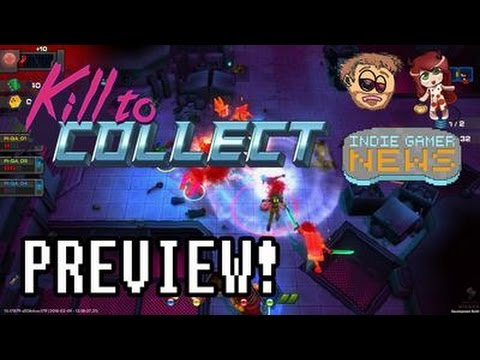 Kill to Collect Gameplay Preview! Cyberpunk Action Rogue-like w/ Indie Gamer News & Christascraft.