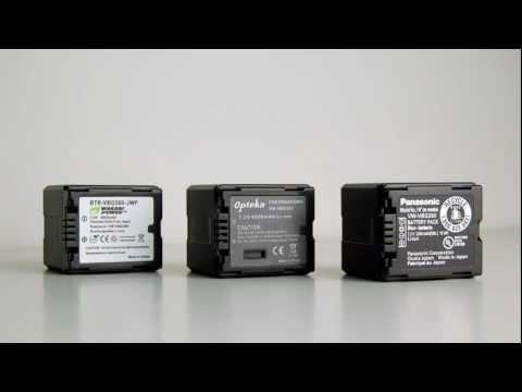Camcorder Battery Shootout: Panasonic OEM, Wasabi, Opteka