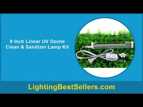 9 inch linear uv ozone clean sanitizer lamp kit