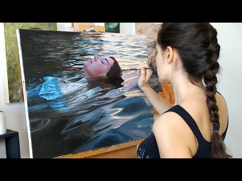 Oil Painting Time Lapse | Floating In Sunset Waters
