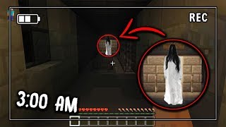 Do NOT Watch this Minecraft Footage if you get SCARED EASILY! (MCPE at 3:00 AM)