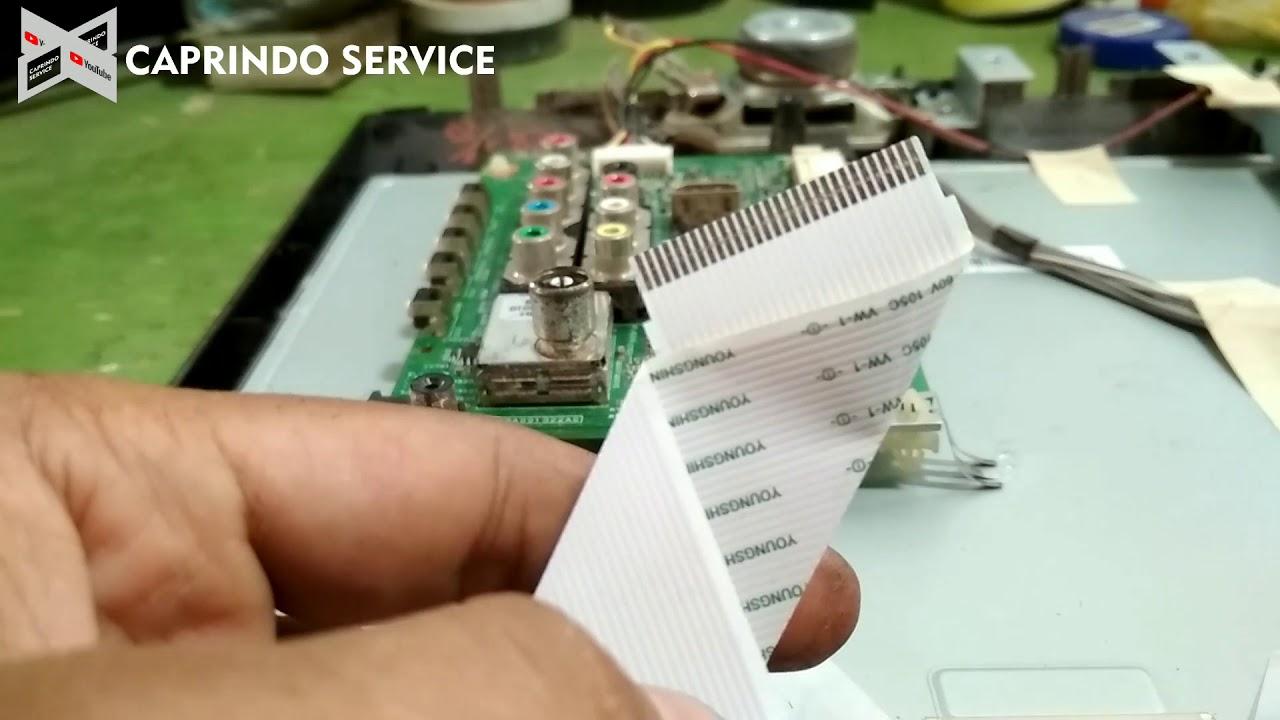 Cara Memperbaiki Tv Led Toshiba Gambarnya Dobel Youtube