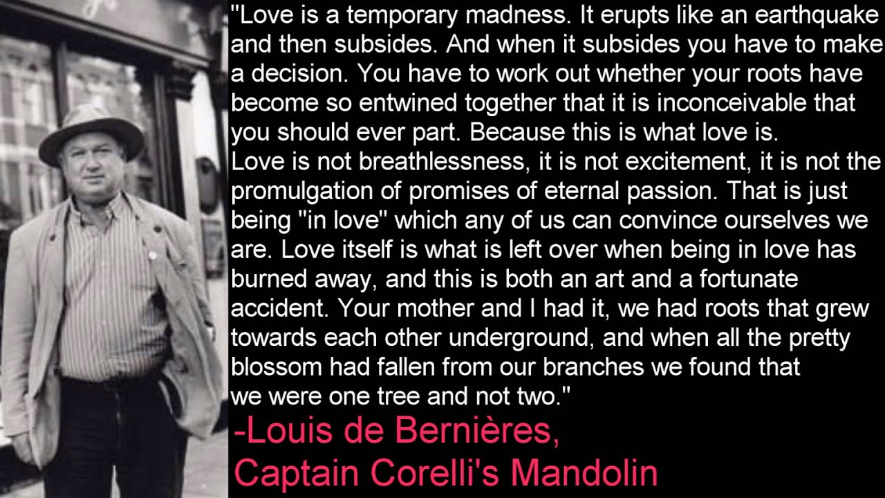 Love is a Temporary Madness -Louis de Bernières, Captain Corelli's ...